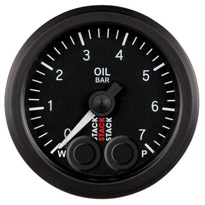 Stack Pro Control Oil Pressure Stepper Motor Gauge