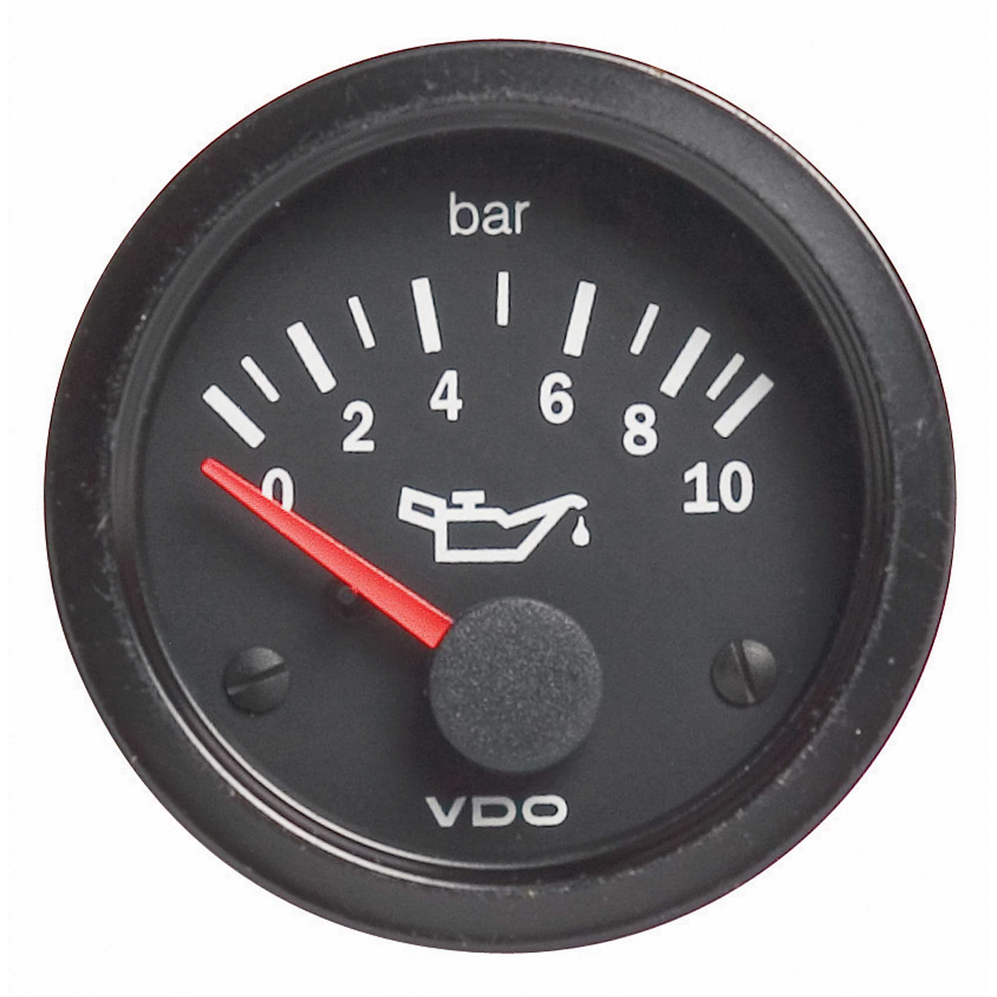 VDO Vision Oil Pressure Electrical Gauge Black Face Dial
