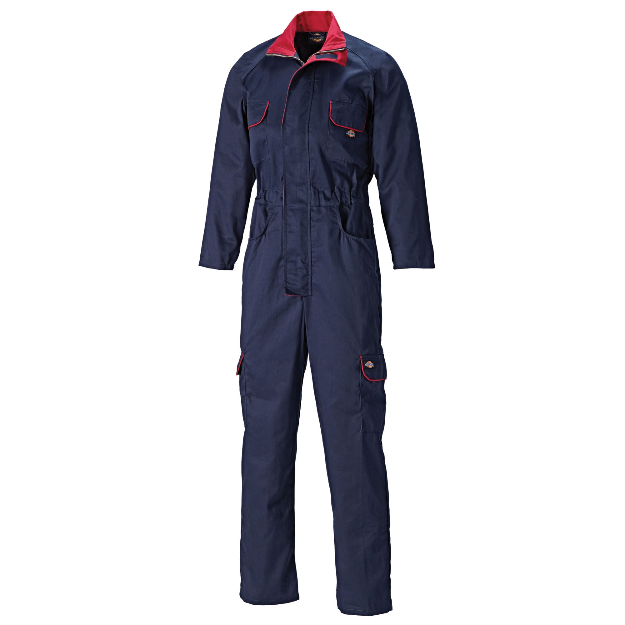 Dickies WD4839WN Navy//Red Womens//Ladies Redhawk Zip Work Overalls//Coverall//Suit