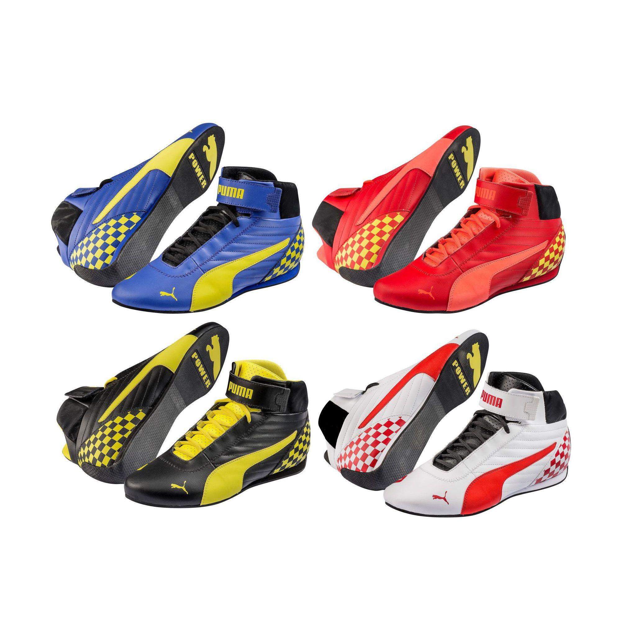 le dernier 1f3af 3b1fc Details about Puma Kart Cat Mid II Leather Go-Kart Race Racing Track  Karting Boots
