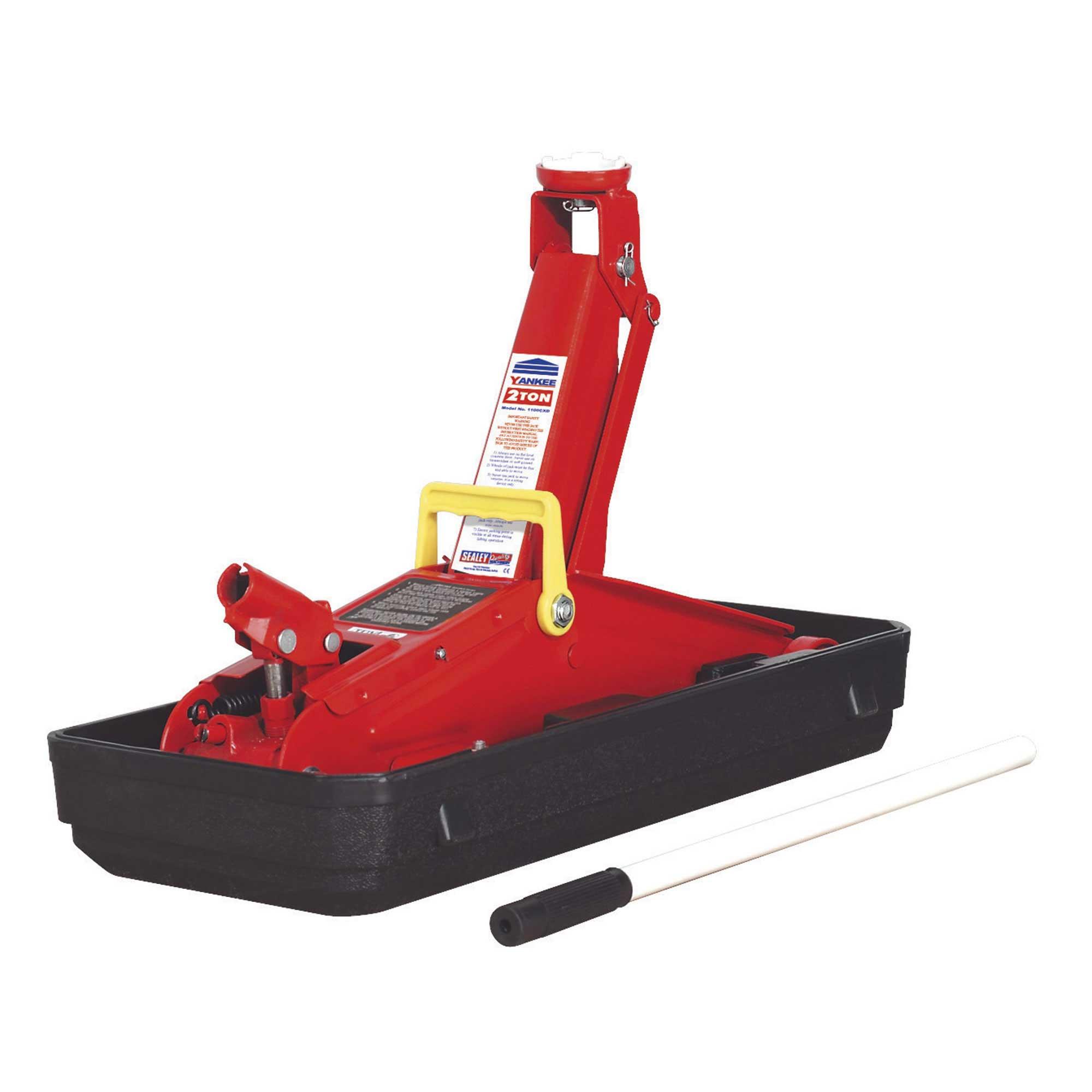 Sealey-2-Tonne-Short-Chassis-Trolley-Jack-Garage-Workshop-1100CXD