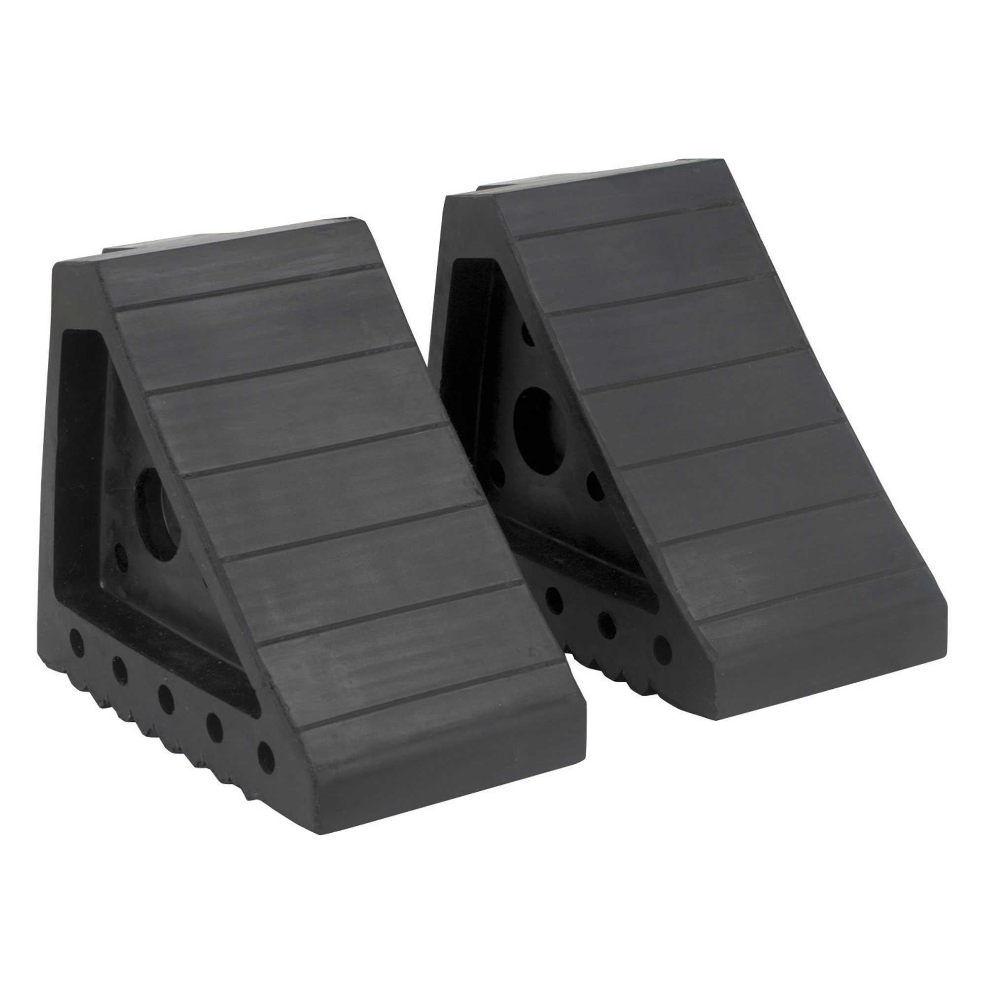 Sealey Pair Of Rubber Wheel Chocks - 4 Ton Capacity WC01
