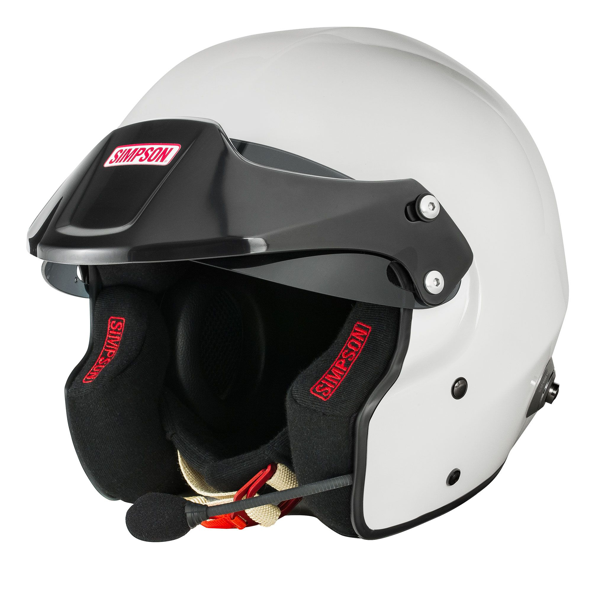 Simpson-Rally-FIA-8859-2015-Approved-Open-Face-Helmet-With-Intercom-amp-HANS-Posts miniatuur 11