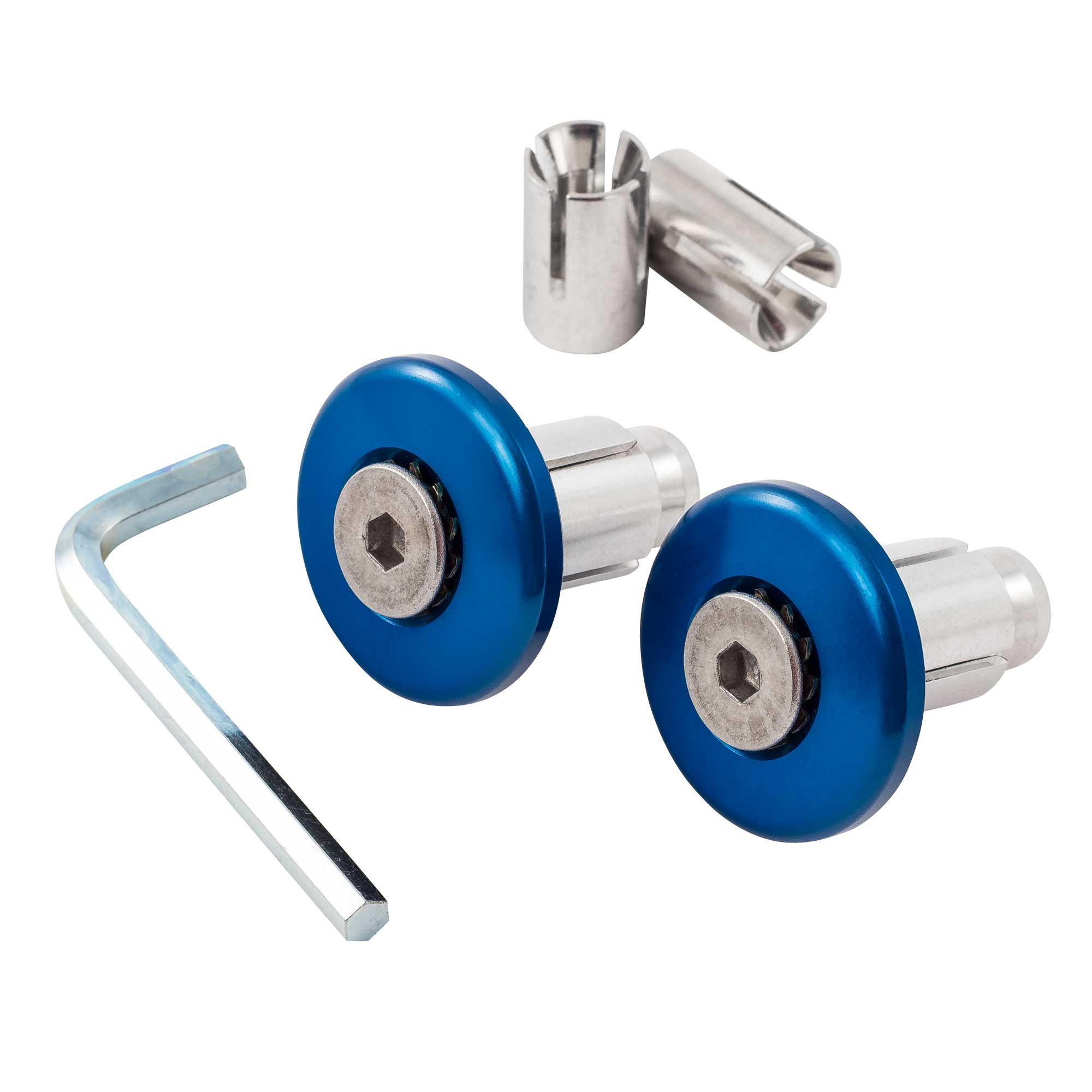 Warrior Motorcycle//Bike Flush-Fit Aluminium Anodised Bar End Weights Pair